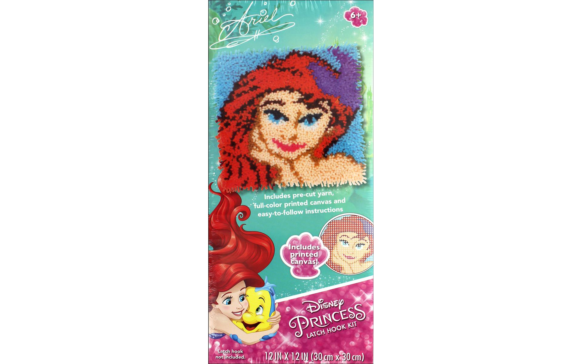 Dimensions Latch Hook Kit 12x12 Disney Ariel