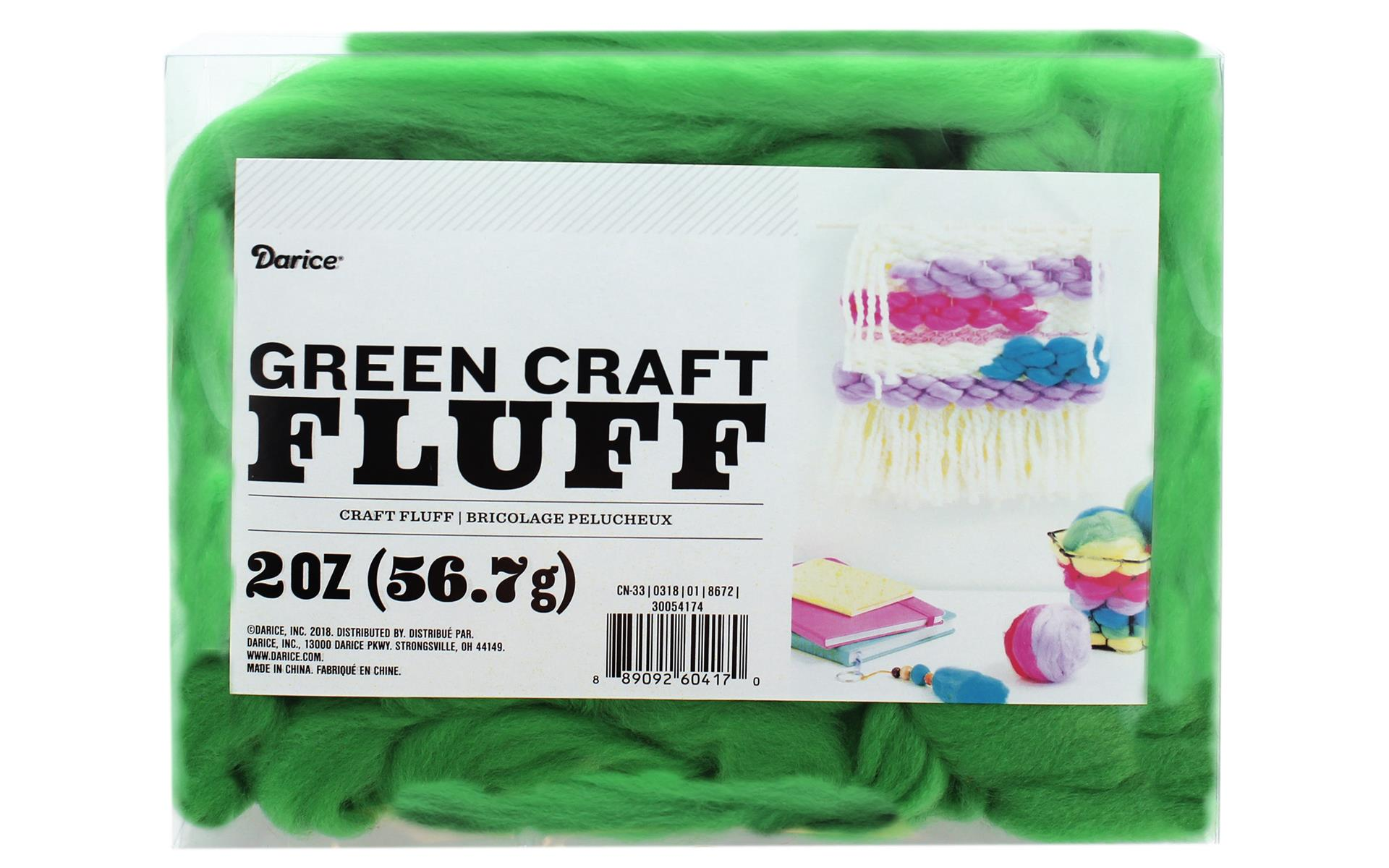 craft fluff 2oz green