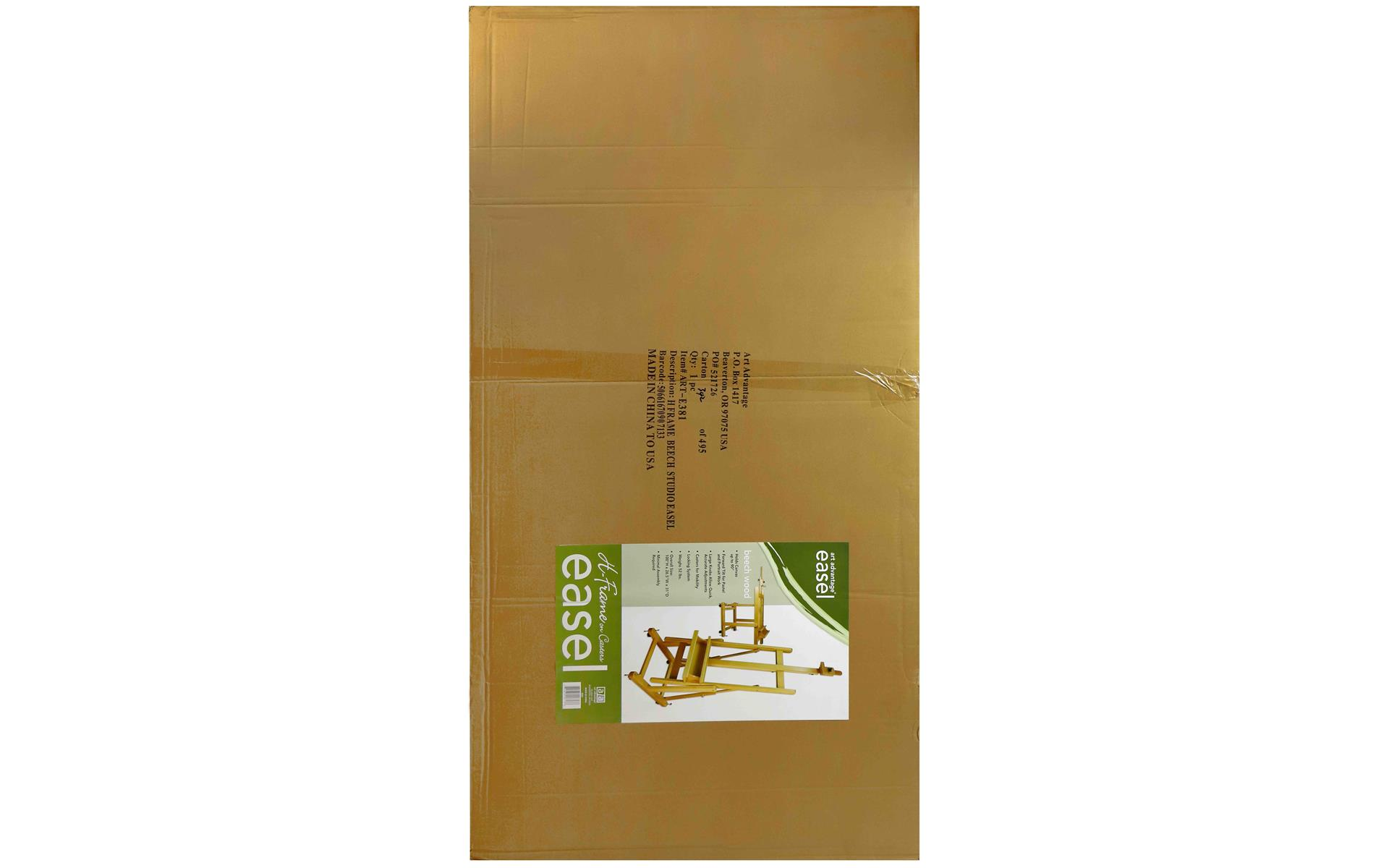 Art Advantage Studio Easel H Frame Beech/Casters